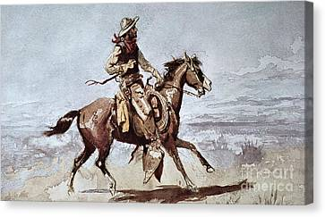 Drifters Canvas Print by Charles Marion Russell