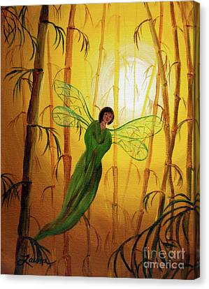 Drifting Bamboo Spirit Canvas Print by Laura Iverson
