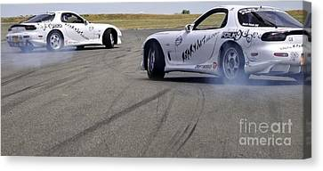 Drifting Couple Canvas Print by Andy Smy