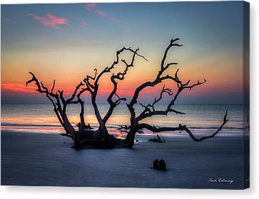 Driftwood Beach Sunrise Jekyll Island Georgia Canvas Print by Reid Callaway