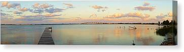 Driftwood Dock At Dusk Canvas Print
