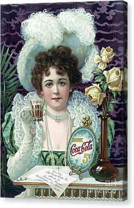 Drink Coca-cola, 1890s Canvas Print by Science Source