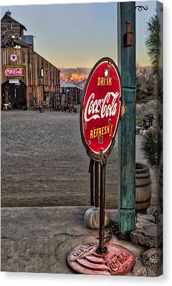 Drink Coca Cola Refresh Canvas Print by Susan Candelario