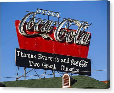 Drink Coca-cola Canvas Print by Stephen Stookey