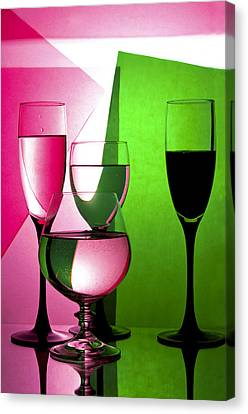 Drink  In Wine Glasses Canvas Print by larisa Fedotova