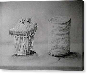 Drink Water After Cake Canvas Print by Maria Woithofer