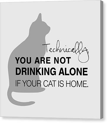 Drinking With Cats Canvas Print by Nancy Ingersoll