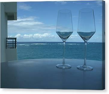 Drinks On The Terrace Canvas Print by Anna Villarreal Garbis