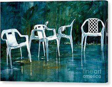 Canvas Print featuring the painting Drip Dry by Elizabeth Carr