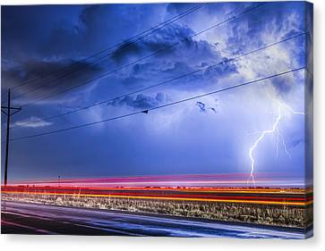 Drive By Lightning Strike Canvas Print
