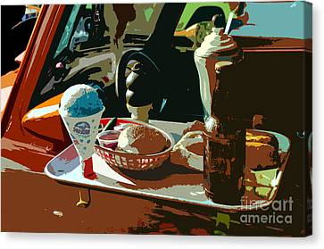 Drive In Canvas Print by David Lee Thompson