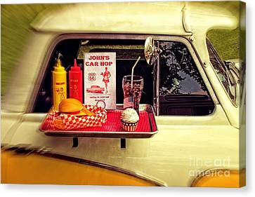 Drive-in Canvas Print by Doc Braham