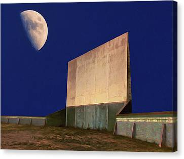 Drive-in Moon Canvas Print by Dominic Piperata