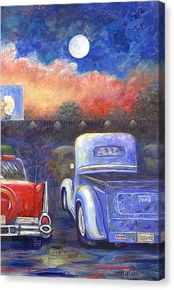 Drive-in Movie Part Two Canvas Print