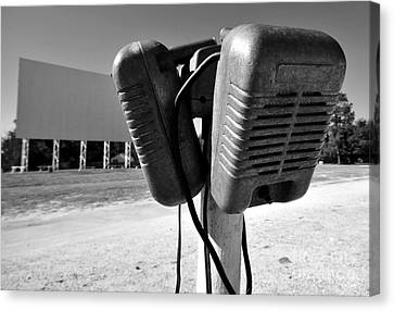 Drive In Speakers Canvas Print by David Lee Thompson