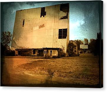 Drive In Yesterday Canvas Print by Michael L Kimble