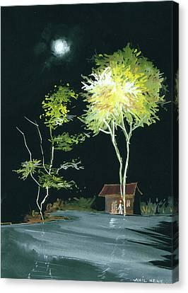 Drive Inn Canvas Print by Anil Nene