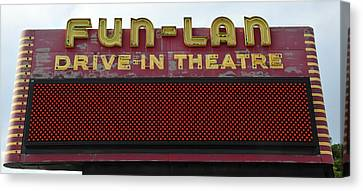 Drive Inn Theatre Canvas Print by David Lee Thompson