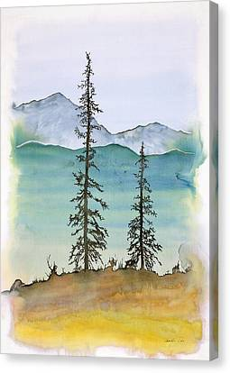 Drive To Eagle And Sketching On A Bumpy Road Canvas Print by Carolyn Doe