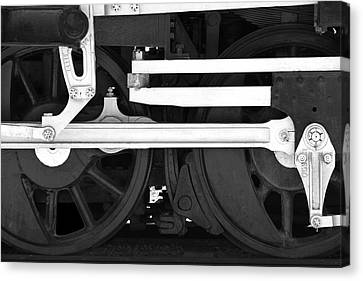 Train Tracks Canvas Print - Drive Train by Mike McGlothlen