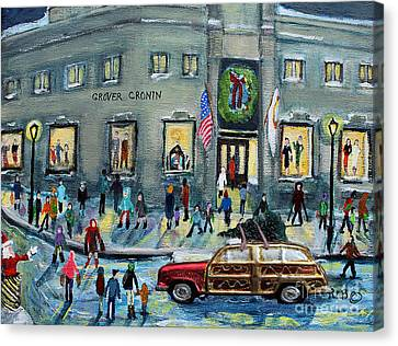 Driving By Cronins, After Getting The Tree Canvas Print