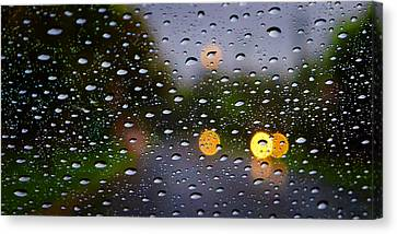 Driving Rain Canvas Print