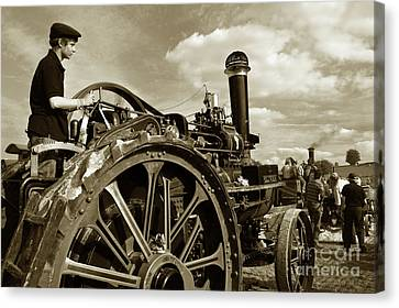 Driving The Engine Canvas Print by Rob Hawkins