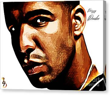 Drizzy Drake Canvas Print by The DigArtisT