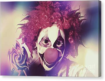 Droopy The Clown With Mind Bending Magic Canvas Print
