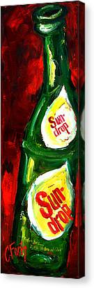 Drop Of Sun Canvas Print by Carole Foret