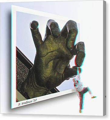 Drop Out - Use Red-cyan 3d Glasses Canvas Print