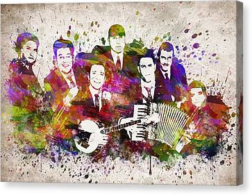 Dropkick Murphys In Color Canvas Print by Aged Pixel