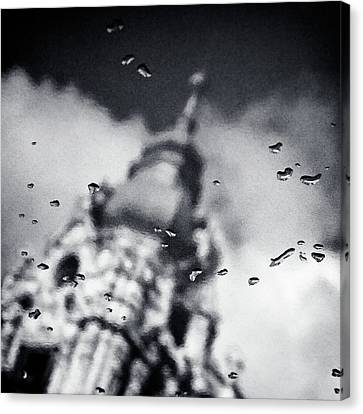 Droplets Canvas Print by Dave Bowman