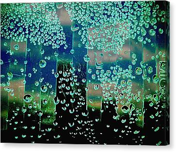 Drops Of Rain Canvas Print by Shirley Sirois