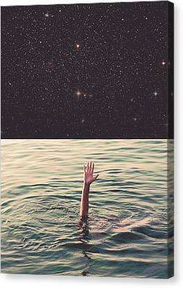 Surreal Landscape Canvas Print - Drowned In Space by Fran Rodriguez