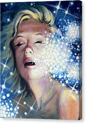 Drowning In A Sea Of Stars Canvas Print by Simon Kregar