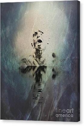 The Scream Canvas Print - Drowning In Sorrow II by Al Bourassa