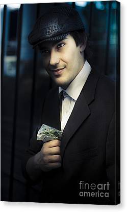 Drug Dealer With Marijuana Canvas Print by Jorgo Photography - Wall Art Gallery