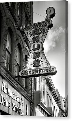 Keuka Canvas Print - Drug Store Sign by Steven Ainsworth