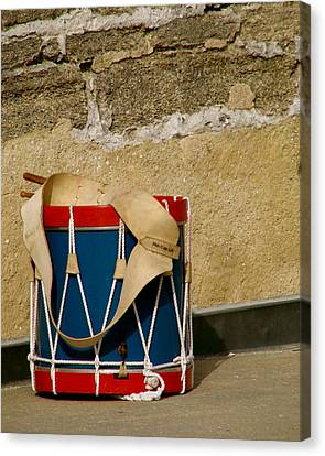 Drum At The Wall Canvas Print by Kimberly Camacho