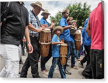 Drummer Boy In Parade Canvas Print