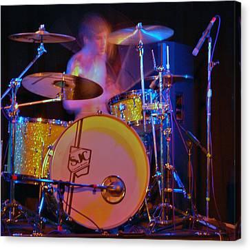 Drummer Boy Canvas Print by Joy Bradley