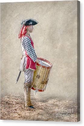 Drummer Boy Portrait  Ver 2 Canvas Print by Randy Steele