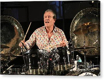 Drummer Carl Palmer Canvas Print by Concert Photos