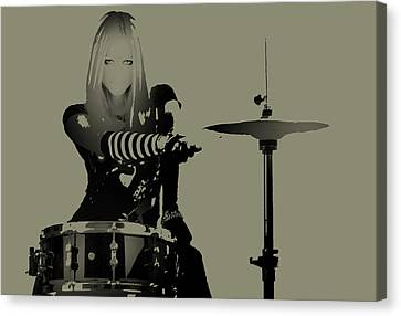 Drummer Canvas Print - Drummer by Naxart Studio