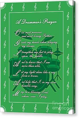 Drummers Prayer_1 Canvas Print by Joe Greenidge
