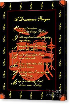 Drummers Prayer_3 Canvas Print by Joe Greenidge