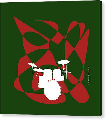 Drums In Green Strife Canvas Print