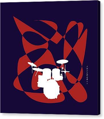 Drums In Purple Strife Canvas Print by David Bridburg