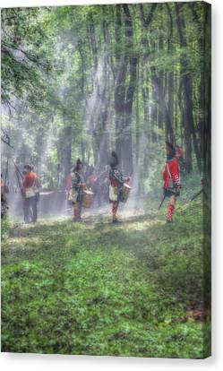 Drums In The Forest Before The Battle Canvas Print by Randy Steele